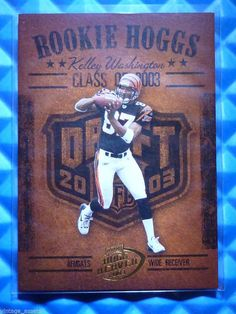 2003 Hogg Heaven KELLEY WASHINGTON Rookie Hoggs RC RCH-14 Bengals Tennessee Vols #CincinnatiBengals
