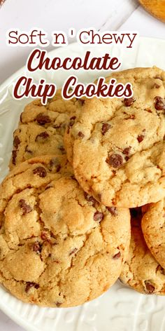 These soft chocolate chip cookies are so good! Fresh tasting for days and perfect any time of year.