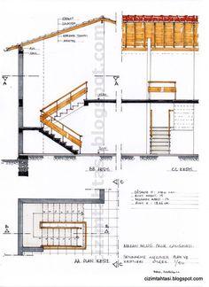 TASARIMDA ESKİZ ÇİZİM VE RENKLENDİRME - Birol Köseoğlu Sketchbook Architecture, Interior Architecture Drawing, Architecture Concept Drawings, Drawing Interior, Stairs Architecture, Architecture Details, Spiral Staircase Plan, Stair Plan, Staircase Design