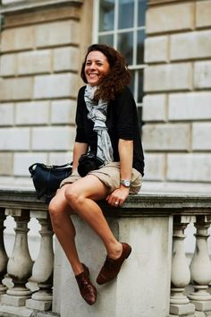 How cute does Garance Dore, look in her brogues!We have a pair of tan brogues at 36Boutiques, just click on this image to have a look.