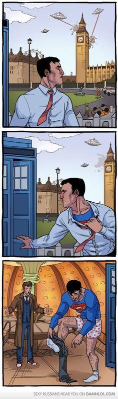 dr.who meets superman