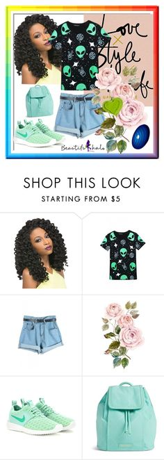 """""""BEAUTIFULHALO #30"""" by nizaba-haskic ❤ liked on Polyvore featuring NIKE, Vera Bradley, women's clothing, women, female, woman, misses, juniors and beautifulhalo"""