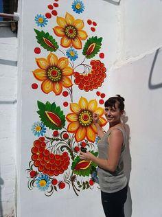 1 million+ Stunning Free Images to Use Anywhere Graffiti Wall Art, Mural Wall Art, Canvas Wall Art, Art Floral, Wall Stencil Patterns, Polish Folk Art, Fence Art, Wall Drawing, Pattern Art