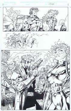 Wildcats #12 p.25 Jim Lee / Scott Williams (Splash), in JustinBelmont's The Belmont Gallery Comic Art Gallery Room - 962670