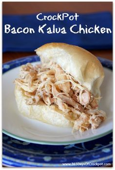 Slow Cooker Bacon Kalua Chicken - 365 Days of Slow Cooking