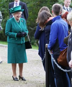 Usually, Queen Elizabeth doesn't stop and speak to the public standing outside the church. But this Sunday, she made an exception.
