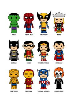 Cute superhero 8x10 art print. $15.00, via Etsy.