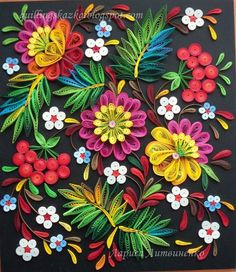 Quilling o filigrana - Quilling Paper Crafts Quilling Images, Paper Quilling Flowers, Origami And Quilling, Quilled Paper Art, Paper Quilling Designs, Quilling Paper Craft, Quilling 3d, Quilling Patterns, Paper Crafts