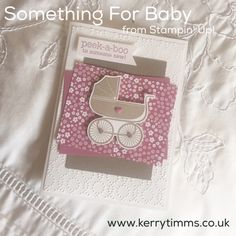 Kerry Timms | Something for Baby | Stampin' Up! handmade card created using only Stampin' Up! products. Visit my blog www.kerrytimms.co.uk for more ideas or to shop online with me. Use my hostess code for a free gift with your purchase