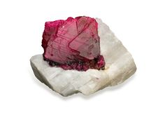 Courtesy of the GIA here's a pic of a rough Ruby, the birthstone for July. On the Moh's scale it's at number 9 so the only thing harder is diamond (number 10) which is why you'll need to use diamond tools to slice it, cut it, drill it, carve it and shape it.  Need diamond tools? Come have a look...http://www.eternaltools.com