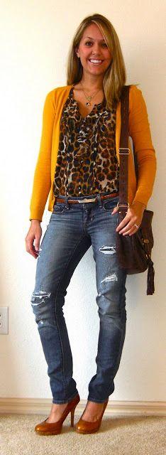 Js Everyday Fashion: Todays Everyday Fashion: The Mustard Cardigan