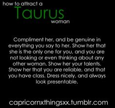 how to attract a Taurus woman