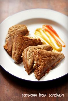 capsicum toast sandwich recipe | quick cheese capsicum toast sandwich