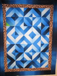 Cool looking quilt - Ombre quilt from Clothworks free patterns