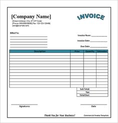 17 best photos of printable commercial invoice sample business