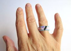 Gay Pride Flag Rings  Mix and Match - Personalized Pride Jewelry  Transgender NonBinary Asexual  Rainbow Gender Fluid Bead Ring  LGBT  LGBTQ