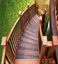 Long Island Deck Builders, LI Deck Builders Decks - Discover home design ideas, furniture, browse photos and plan projects at HG Design Ideas - connecting homeowners with the latest trends in home design & remodeling Stair Railing Kits, Wood Deck Railing, Deck Stairs, Railing Ideas, Staircase Railings, Staircases, Long Island, Island Deck, Deck Colors