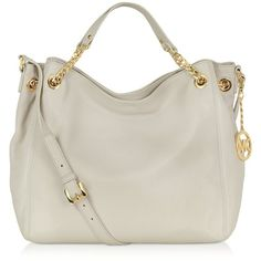 Michael Kors Jet Set Chain Leather Tote ($298) ❤ liked on Polyvore