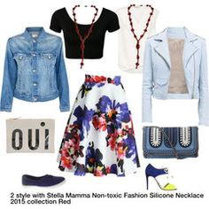 flower skirt with Stella Mamma Non-toxic Fashion Silicone Necklace 2015 collection