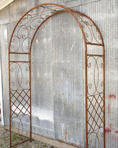 Wrought Iron Scroll Arbor Ready for your Garden Path - *LOW SHIPPING COST* - Arbors and Arches
