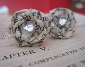 Vintage Paper Earrings