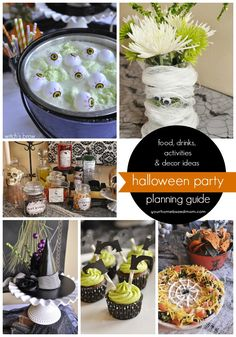 The ultimate Halloween Party Planning Guide - lots of food, beverage, decor and activity ideas @yourhomebasedmom.com