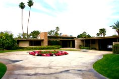 Frank Sinatras first home in Palm Springs ~ he called it Twin Palms