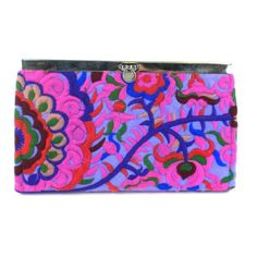 Purple Blossom Snap Clutch - Global Groove (P)