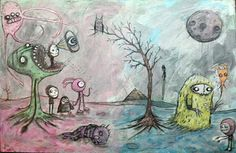 gus fink, painting,surreal,art