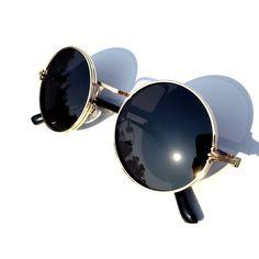 goggles for mens  Steampunk Round Sunglasses Goggles - Aviator Fashion Aviator ...
