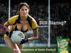 Still Staring? Proud supporters of Gaelic Football Hunky Dorys Popular Ads, Men Are Men, Shops, Best Ads, Buzzfeed News, Women In History, Modern Prints, Body Image, Print Ads