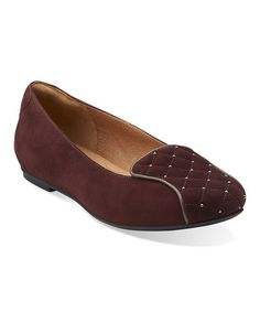 Look at this #zulilyfind! Burgundy Valley Isle Suede Flat #zulilyfinds