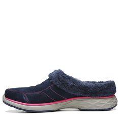 Ryka Women's Luxury Medium/Wide Mule Shoes (Navy/Pink)