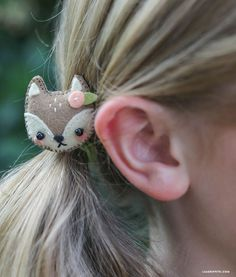 DIY Mini Felt Animal Hair Clips Tutorial with FREE Pattern