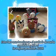 ¡Más huevitos de Pascua decorados con tus productos #AZOR!