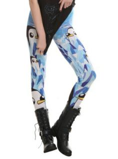 Adventure Time Gunter Leggings - They come in a 3x and I need themmmm!!!