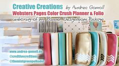 VIDEO: Creative Creations by Andrea Gomoll | Websters Pages Color Crush Planner – Unboxing | http://andrea-gomoll.de