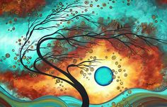 Original Bold Colorful Abstract Landscape Painting FAMILY JOY II by MADART Painting  - Megan Duncanson