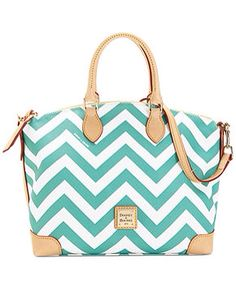 Dooney and Bourke Seafoam Chevron Satchel.  Yes!