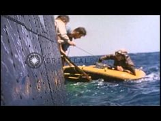 A pilot comes aboard PBM Mariner during air sea rescue work in the Pacific Ocean ...HD Stock Footage - YouTube