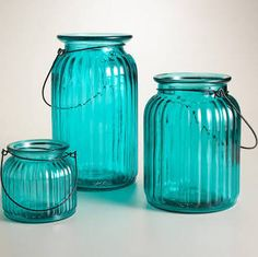 Teal Glass from World Market! $9.99