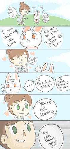 quick animal crossing comic, i guess lol this is what would happen if i finally got a bunny in my town.