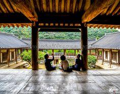 Sitting on Byeongsanseowon Confucian Academy