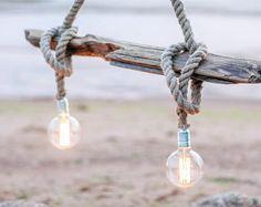 Treibholz-Deckenlampe mit Edison-Lampe. Treibholzlampe. Gesamte Treibholz. Wohnkultur.