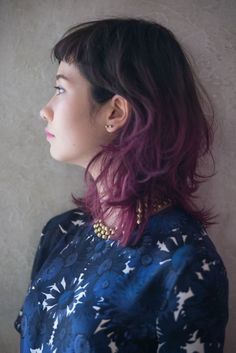 i want this color for my hair. Pretty Hair Color, Hair Color Purple, Hair Color And Cut, Purple Ombre, Medium Hair Styles For Women, Short Hair Styles, Scarf Hairstyles, Pretty Hairstyles, Hair Arrange