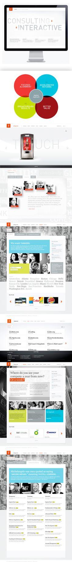 Sapient.com by Moosesyrup, via #Behance #Webdesign