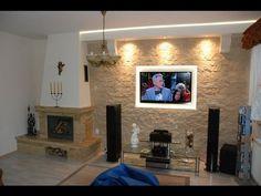 803 364 Views - Ściana TV w kamieniu ozdobnym, dekoracyjnym - TV Wand in the stone wall ...