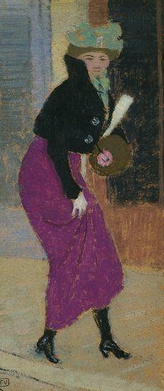 Félix Vallotton, Dans la rue : femme au manchon