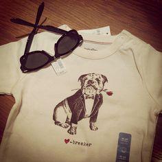 Valentine's Bulldog Onesie by Baby Gap