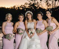 Pale Pink Long Bridesmaid Dress